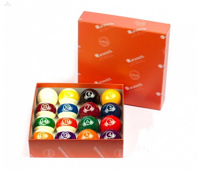 "Continental - 2.1/4"" set & 2.1/4"" cue ball"