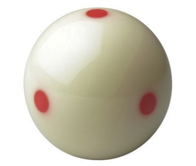 "TV Pro Cup 6 Red Dots - 2.1/16"" cue ball"