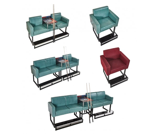 PU Deluxe Green Colour - Chair